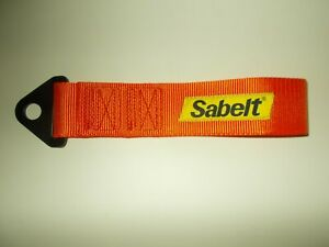 Sabelt Competition Car Fixed Tow Eye Strap//Webbing Grey