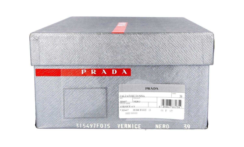 LUXUS NEU PRADA PUMPS SCHUHE 3I5497 SCHWARZ LACKLEDER NEU LUXUS NEW 39 39,5 UK 6 57039d