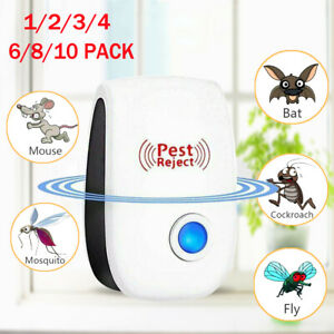 2 Anti Mosquito Pest Mice Insect Ultrasonic Electronic Cockroach Repeller Reject