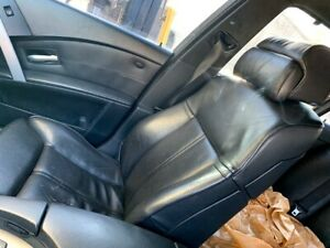 2006-2010-BMW-E60-M5-FRONT-SPORT-DYNAMIC-SEATS-BLACK-LEATHER-POWER-HEATED-OEM