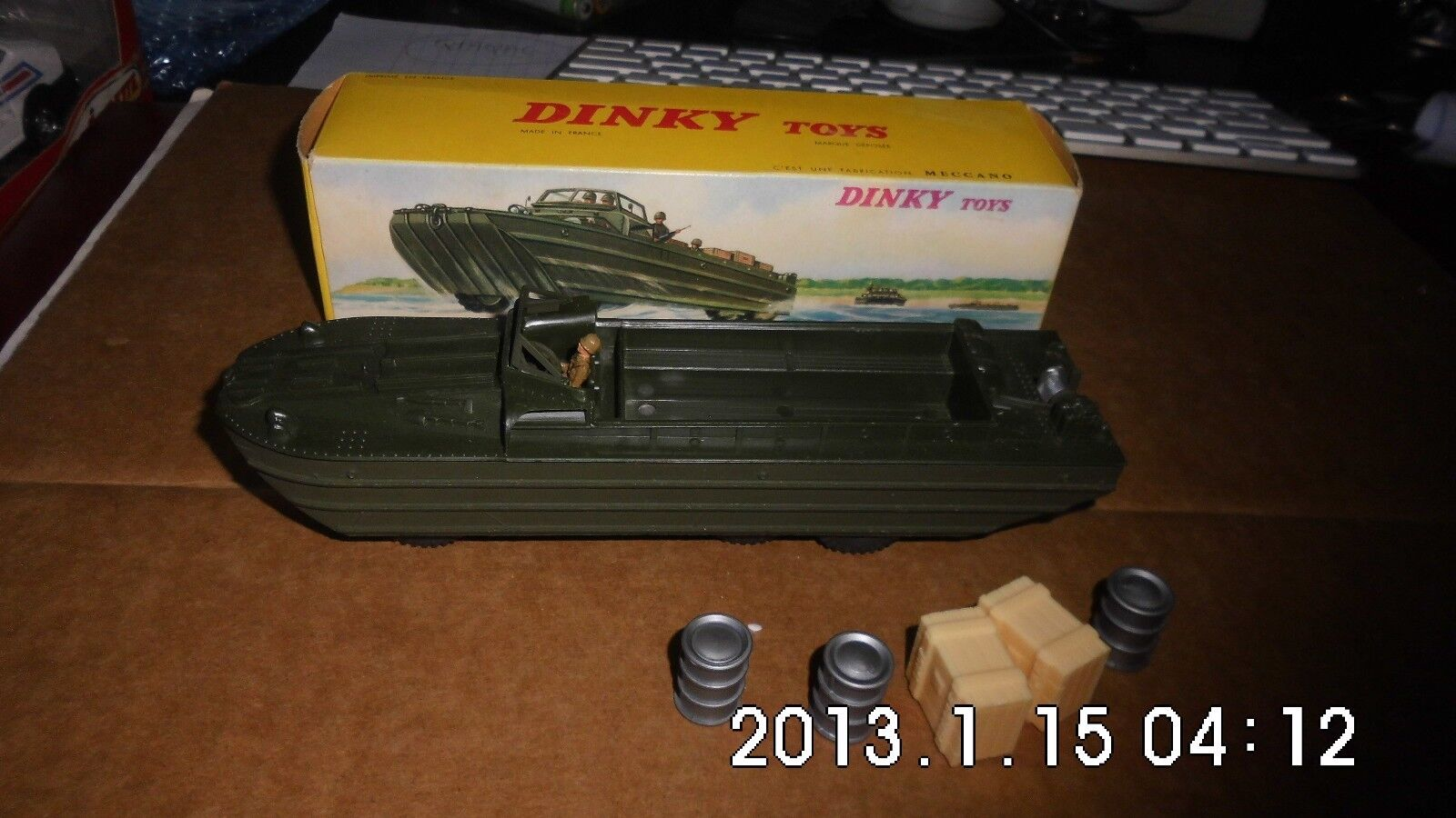 RARE DUKW AMPHIBIE  DINKY TOYS N° 825 + BOITE comme neuf