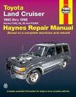 Toyota Land Cruiser Automotive Repair Manual: 1980 to 1996 by J. H. Haynes, Jeff Kibler, etc., Robert Maddox (Paperback, 1998)