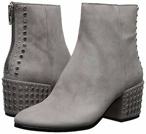 Women s Shoes Dolce Vita Mazey Suede Studded Block Heel Boots Smoke ... 71afa48f3b
