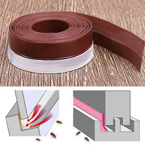 Details about  /Door Sweep Under Draft Stopper Weather Stripping Exterior Interior Bottom-Seal