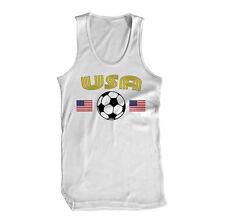 America USA Soccer Futbol World Team National Tournament Cup Flag Mens Tank Top