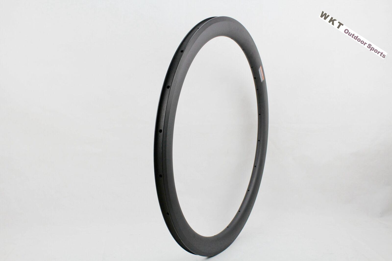 25mm Width 50mm Deepth Clincher Full Carbon 3K Rims Basalt Rim Brake Road Rims