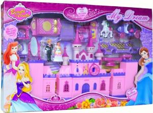 Princess-Musical-Deluxe-Castle-Playset-Light-Music-w-Furniture-Girls-Xmas-Toy