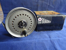 """A GOOD VINTAGE BOXED J W YOUNGS BEAUDEX 3 1/2"""" TROUT FLY REEL"""