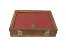 Cherry Wood Display Case 9 X 12 X 3 For Arrowheads Knifes Collectibles Amp More
