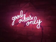 """""""good vibes only"""" Beer Gift Boutique Store Porcelain Decor Custom Neon Sign"""