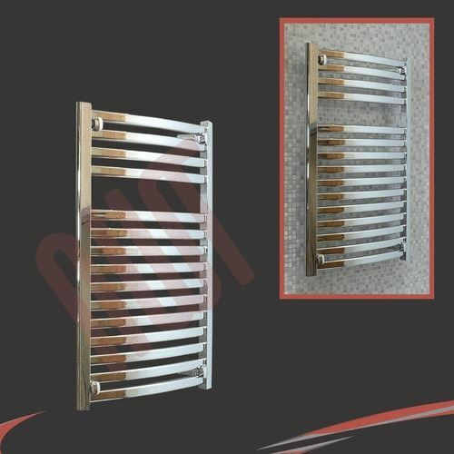 500mm(w) x 800mm(h)  Ellipse  Chrome Heated Towel Rail Radiator Warmer 1856 BTUs