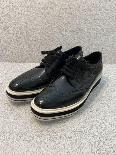 Prada Women's Black Dressy Sneakers Size 39 Brogue