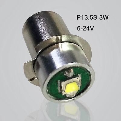 2Pcs3W  P13.5S Led Flashlight Replacement bulb Lantern Work Light 12V/24V/3V