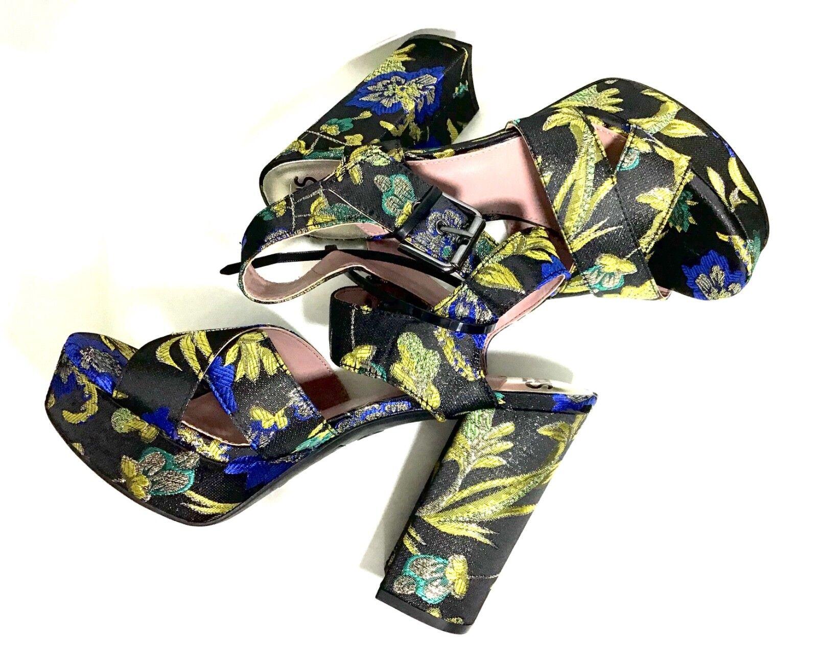 Circus Sam Edelman Femme Maria Métallisé Floral Plateforme Sandale Talon Chaussure 7.5 m