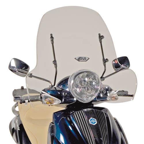 Parabrisas Transparente Givi 103a+A103a Piaggio Beverly 500 2004 2005 2006 2007