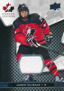 2018-Upper-Deck-Team-Canada-Juniors-24-Jared-McIsaac-Jersey-Base-Parallel