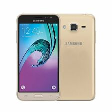 "Samsung Galaxy J3 Android SIM Free 8 Go 5"" Smartphone en or (266926)"