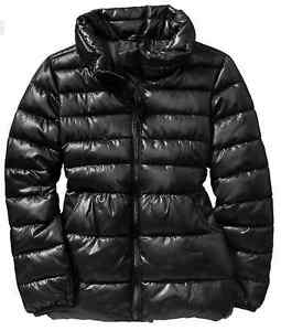 a9cc119d9 Old Navy Girl Quilted Puffer Puffy Winter Coat Jacket BLACK XS 5 S 6 ...