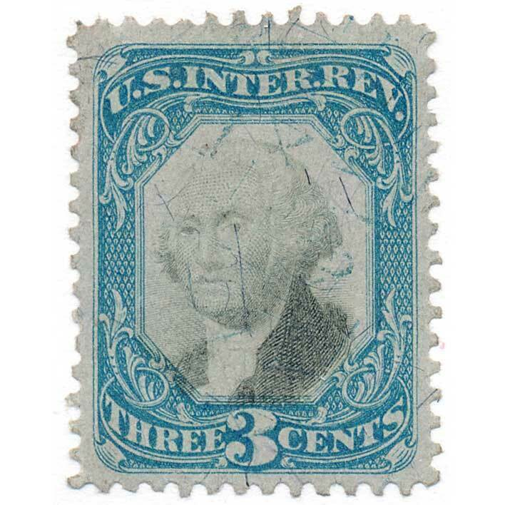 1871 R105 3c Second Issue
