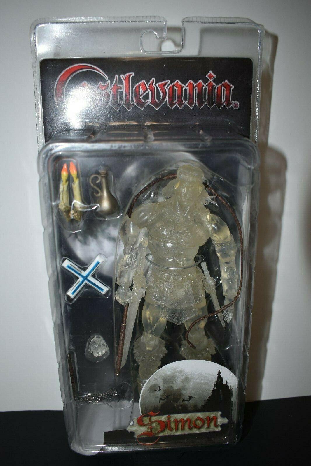 Simon Belmont claro versión Castlevania básico serie 60801 Sellado Neca 2007
