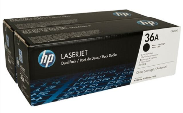 HP 36A Dual Pack (CB436AD) Black Toner