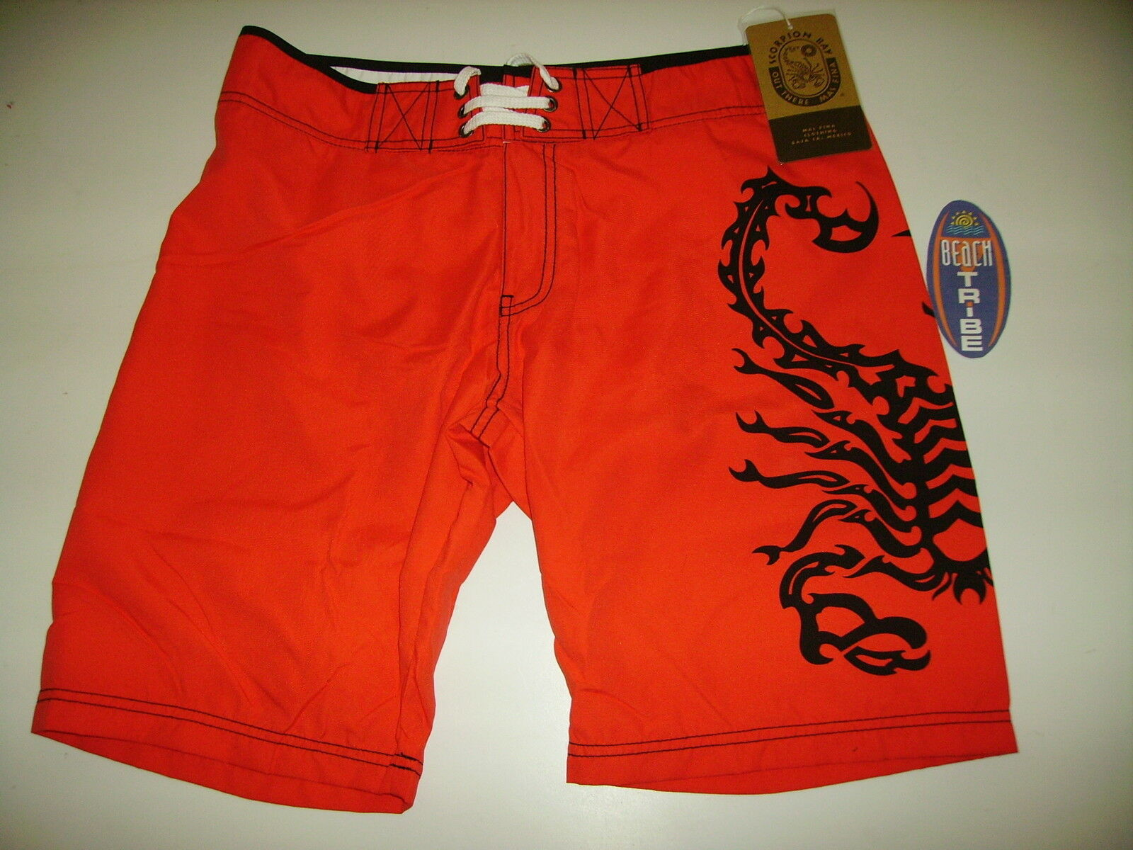 SCORPION BAY BOARDSHORT PANTALONCINO MARE COSTUME MBS2710 RED red 28