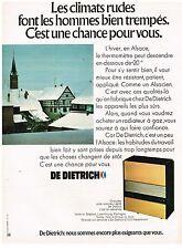 PUBLICITE ADVERSTISING  1972   DE DIETRICH    radiateur à gaz