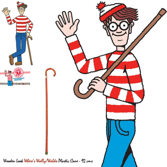 wheres wally walking stick 91cm ebay