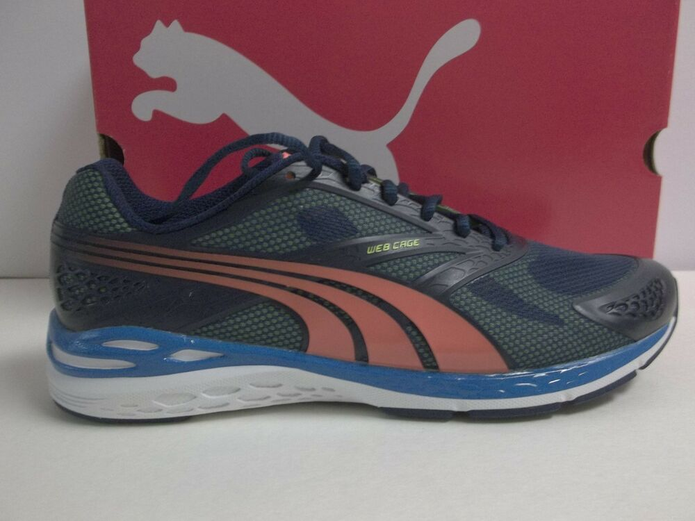Puma Taille 13 M New homme Bioweb Speed chaussures Sneakers Bleu