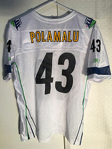 premium selection 26602 3b255 Details about Reebok Women's NFL Jersey Pittsburgh Steelers Troy Polamalu  White Superbowl 43 S