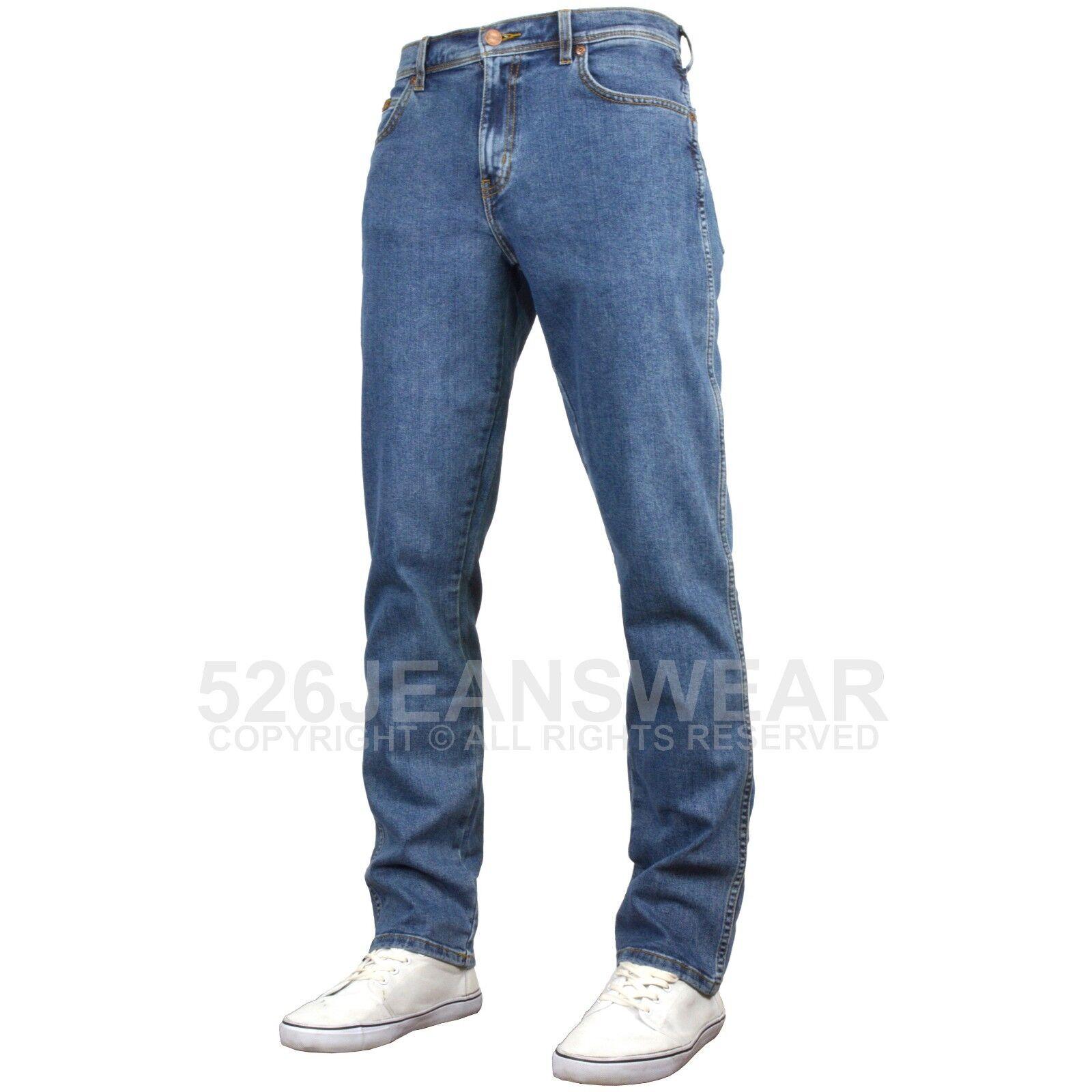 Wrangler Texas Stonewash Stretch Jeans Straight leg Waist 30 - 46