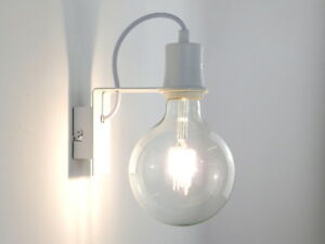 Applique led moderno industrial vintage bianco salone cucina