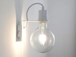Applique led moderno industrial vintage bianco salone cucina camera