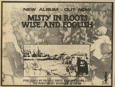 17/10/81PGN48 ADVERT: MISTY IN ROOTS WISE.AND.FOOLISH NEW ALBUM OUT NOW 5X7
