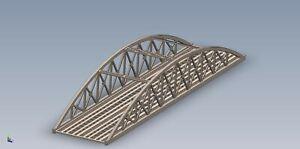 00-Gauge-28-034-711mm-Twin-Arched-Girder-Railway-Bridge