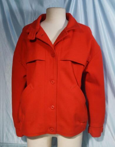 La Rouge Attractive Femme manteau le 100 Woolrich ou Laine M doublé veste Sz 1t1Sxqdgw