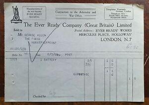 1928-The-Ever-Ready-Company-Batteries-Holloway-London-Invoice