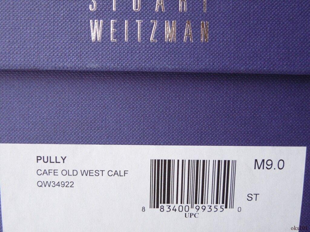 New  525 STUART STUART STUART WEITZMAN Pully dark braun leather high heel ANKLE Stiefel 9 ec5b4f