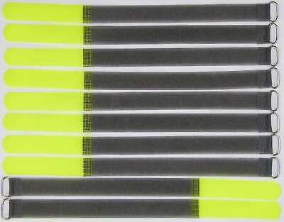 20 Kabelbinder Kabelklett 30 cm x 20 mm neon pink Klettband Klettkabelbinder Öse