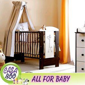 De luxe lit de b b en bois lit safari collection girafe matelas s lection ebay for Lit bebe luxe