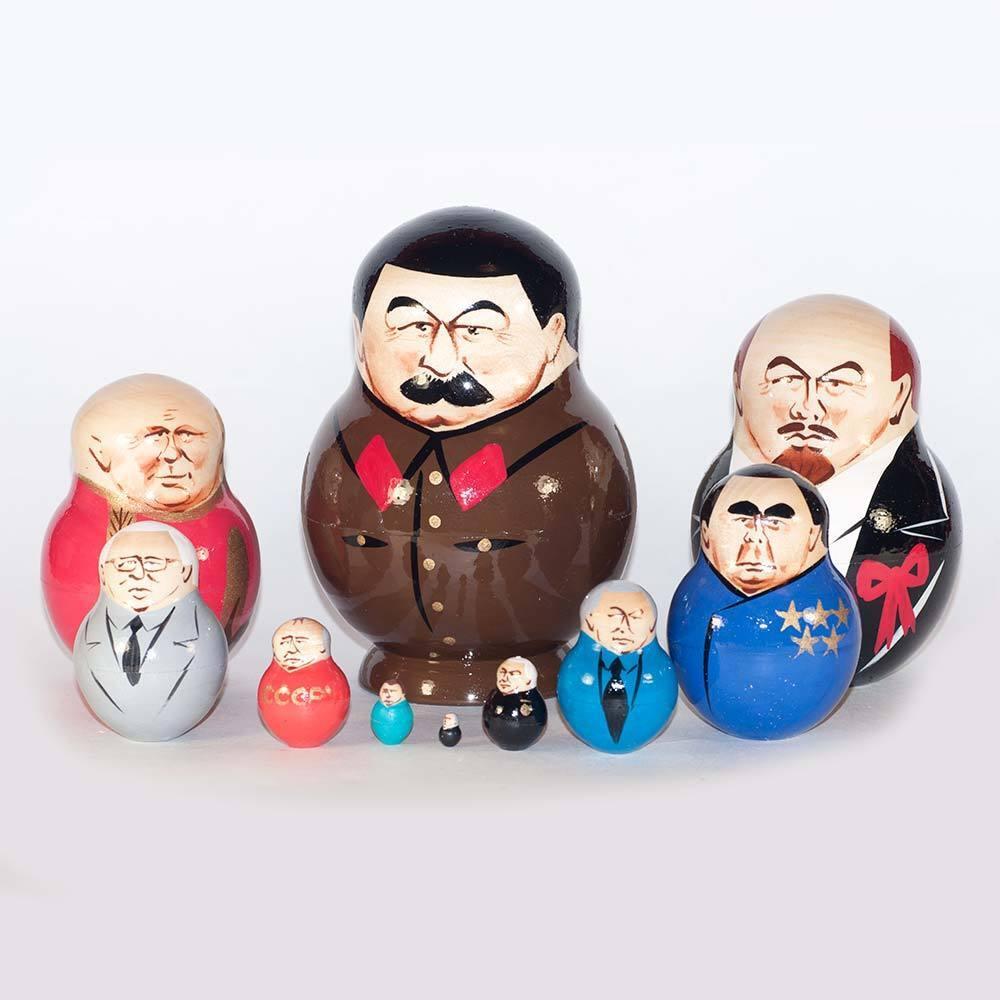 Poupee russe Staline et autres russe les dirigeants politiques matriochka poupées - 530p