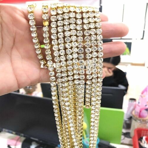 Mens and Women Gold Square Chain Icy Diamonds Hip Hop Choker Chain Necklace