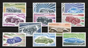 Monaco-Satz-1191-1201-postfrisch-Satz-Automobile-1975-Motiv-Autos-Cars-MNH
