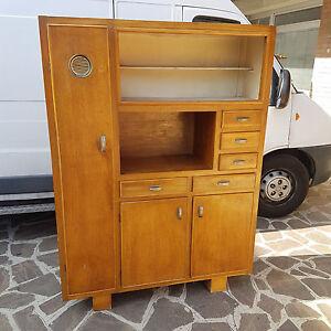 Bel mobile buffet da cucina in rovere originale anni 39 50 39 60 produzione italiana ebay - Mobile cucina anni 50 ...