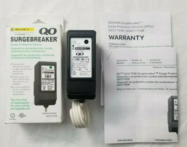 New ! Square D by Schneider Electric #QO2175SB QO SurgeBreaker   - Free Shipping