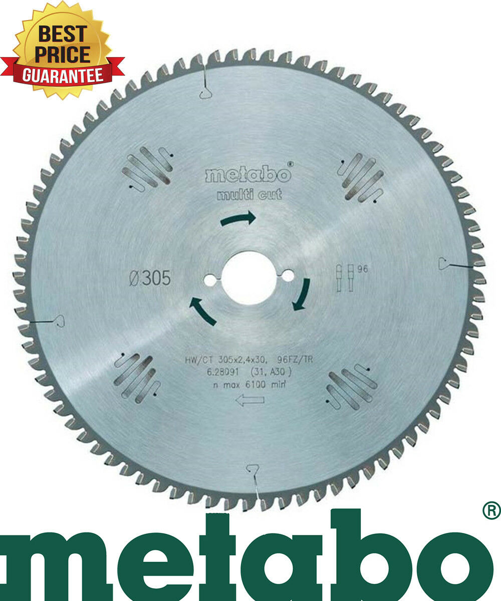 Metabo Circular Saw Blade HW/CT 305x30, 96 FZ/TZ 5 ° NEG. suitable for KGS 305