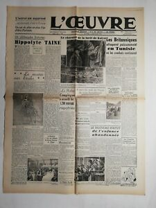 N501-La-Une-Du-Journal-L-039-uvre-22-avril-decembre-1943-Hippolyte-taine