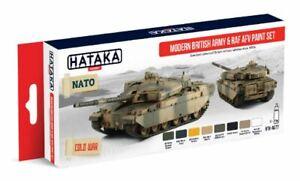 Adroit Hataka - Moderne Armée Britannique & Raf Afv Peinture Acrylique Set #htk-as77