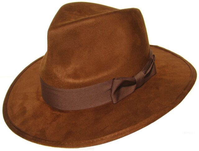 DOCTOR WHO HAT Fourth 4th Dr Fedora Brown Jones Tom Baker Costume BBC LICENSED