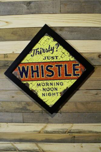 Restomod of old Whistle Soda Cola Sign Framed Fine-Art Print 12x12